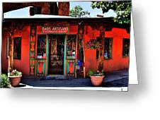 Taos Artisans Gallery Greeting Card by David Patterson