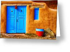 Taos Doorway Greeting Card