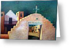 Taos Evening Shadows Greeting Card