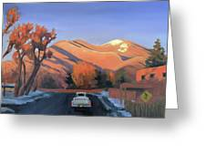 Taos In The Golden Hour Greeting Card