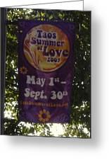 Taos Love Greeting Card