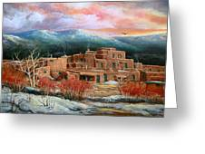 Taos Pueblo Greeting Card