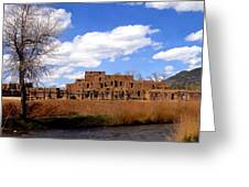 Taos Pueblo Early Spring Greeting Card
