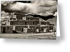 Taos Pueblo Greeting Card