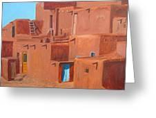 Taos Pueblo V Greeting Card