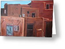 Taos Pueblo Viii Greeting Card