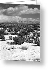 Taos Snowfall Greeting Card by Susan Chandler