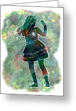 Tap Dancer 1 - Green Greeting Card