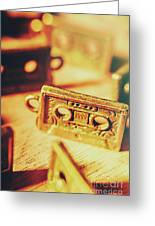 Tapes From The Golden Oldies Greeting Card