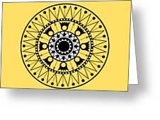 Tapiz Black And White Greeting Card
