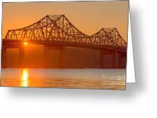 Tappan Zee Bridge At Sunset I Greeting Card