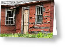 Tar-paper House Door And Windows Greeting Card