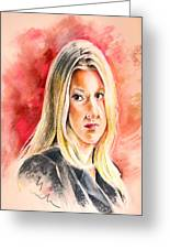 Tara Summers In Boston Legal Greeting Card