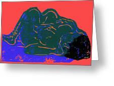 Tarbaby 2 Greeting Card by Adam Kissel