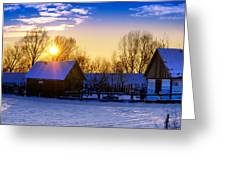 Tarchomin Sunset Greeting Card by Tomasz Dziubinski