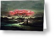 Tardis Blossom Greeting Card