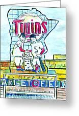 Target Field  Greeting Card by Matt Gaudian