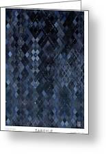 Targyle Pitch Black Pattern 1 Greeting Card