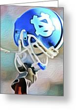 Tarheel Football Helmet Nixo Greeting Card