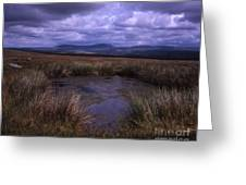 Tarn On The Slopes Of Whernside With Pen-y-ghent On The Horizon Yorkshire Dales England Greeting Card