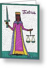 Tarot Of The Younger Self Justice Greeting Card