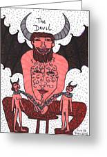 Tarot Of The Younger Self The Devil Greeting Card