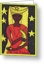 Tarot Of The Younger Self The High Priestess Greeting Card