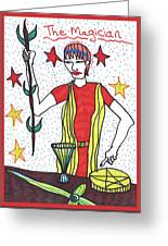 Tarot Of The Younger Self The Magician Greeting Card