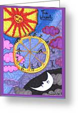 Tarot Of The Younger Self The Wheel Greeting Card