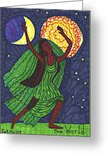 Tarot Of The Younger Self The World Greeting Card