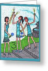 Tarot Of The Younger Self Three Of Cups Greeting Card