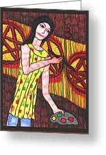 Tarot Of The Younger Self Three Of Pentacles Greeting Card