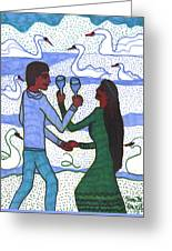 Tarot Of The Younger Self Two Of Cups Greeting Card