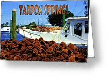 Tarpon Springs Postcard Greeting Card