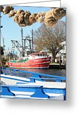Tarpon Springs Shrimp Boat Greeting Card