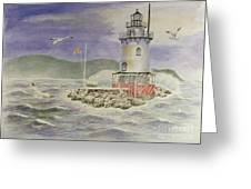 Tarrytown Lighthouse From The South Greeting Card