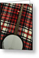 Tartan Banjo Greeting Card