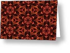 Tartan Fire Medallions Greeting Card