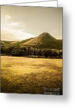 Tasmania West Coast Mountain Range Greeting Card