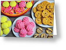 Tasty Assortment Of Cookies Greeting Card