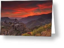 Tatev Monastery At Dawn Greeting Card