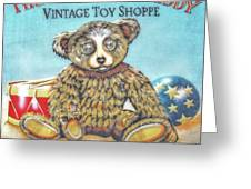 Tattered Teddy Toy Shop Sign Print Greeting Card