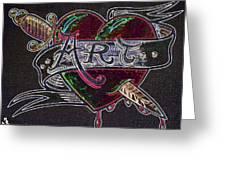 Tattoo Style Art 3 Greeting Card