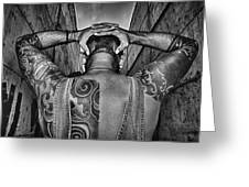 Tattoo Greeting Card by Stylianos Kleanthous