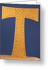 Tau Cross Greeting Card
