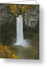 Taughannock Falls In Autumn Greeting Card