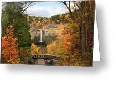 Taughannock Falls Splendor Greeting Card