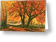 Taughannock Park Trumansburg New York Greeting Card