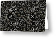 Taupe Brown Paisley Design Greeting Card