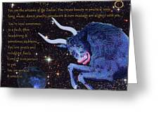 Taurus birthday zodiac astrology greeting card for sale by michele taurus birthday zodiac astrology greeting card m4hsunfo